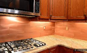 copper color large subway backsplash glass tile backsplash
