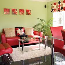green u0026 red living room bold red makes a statement against fresh