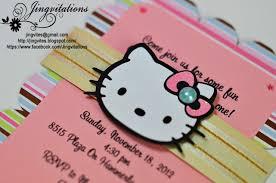 jingvitations kitty baby shower baptism birthday invitations