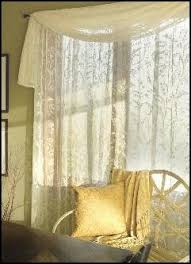 36 X 45 Curtains Ivory Lace Curtain Window Treatment Scrolls Valley 84