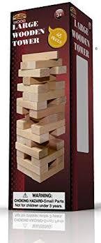 large wooden pieces large wood tower 48pcs color balance wooden block