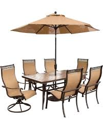 Patio Furniture Set With Umbrella Don T Miss This Deal On Hanover Outdoor Furniture Monaco 7 Pc