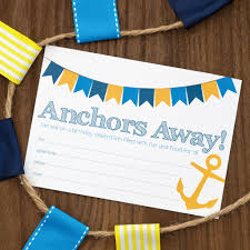 nautical themed birthday party invitation celebrate magazine