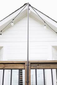 How To Hang Christmas Lights On House by Top 25 Best String Lights Outdoor Ideas On Pinterest Outdoor