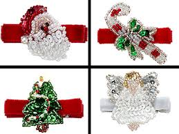 christmas hair accessories no slippy hair clippy s christmas clippies babies