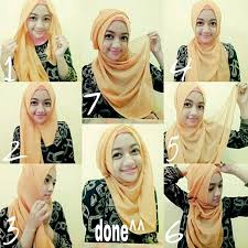 tutorial memakai jilbab paris yang simple cara memakai jilbab paris terbaru modern