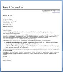 web marketing specialist cover letter