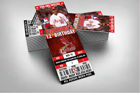sports invites 2 5 6 u2033 st louis cardinals sports party invitations