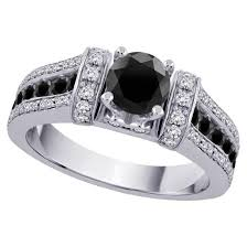 wedding rings women unique accent of black diamond wedding rings for women