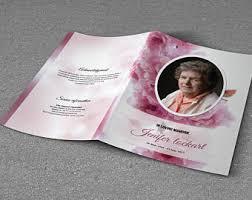 funeral program printing printable bi fold funeral program template obituary template