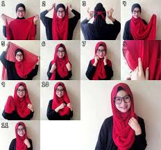 tutorial hijab segitiga paris simple shialatinos