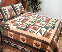 buy winter cabin quilt king size 108 inch x 90 inch handmade
