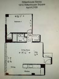 savoy floor plan apartment unit 2108 at 1810 rittenhouse square philadelphia pa