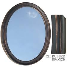 bronze mirror for bathroom bathroom mirror vanity oval framed wall mirror oil rubbed bronze ebay