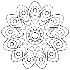 free printable geometric coloring pages kids
