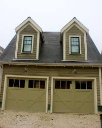 olive green dark and light combo trim garage doors with windows
