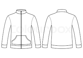 blank sweatshirt template isolated on white background stock