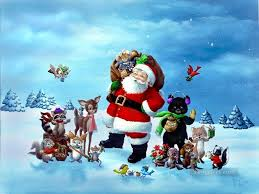 xs024 kids christmas santa claus painting in oil for sale