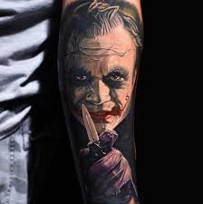 tattoo pictures joker 3d joker tattoo on left forearm by nikko hurtado