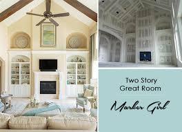 TwoStory Family Room Marker Girl Makeover Marker Girl - Two story family room