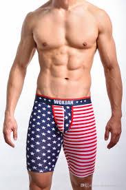 Mens Flag Shorts 2018 C557 Wholesale Woxuan Mens Shorts Usa Flag Mans Shorts Man