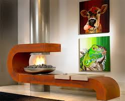 natural fireplace decoration ideas with simple design of the