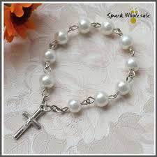 catholic rosary ring 2018 catholic baby s baptism rosary white glass pearl finger