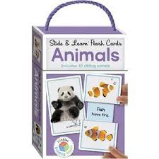 building blocks slide and learn flash cards animals officeworks