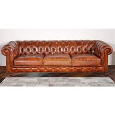 Tufted Leather Sofa Bed Pasargad Genuine Leather Chester Bay Tufted Sofa Free Shipping