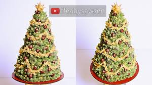 3d buttercream christmas tree cake tutorial merry christmas