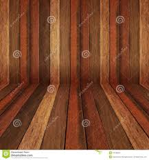 wooden panel wall and floor interior background stock photo