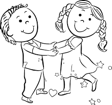 dance for kids coloring page free download