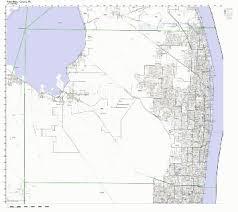Palm Beach Florida Zip Code Map Buy Gadsden County Florida Fl Zip Code Map Not Laminated In Cheap