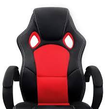 chaise baquet de bureau chaise de bureau sport fauteuil siege baquet et noir
