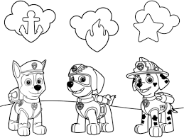 paw patrol badges coloring free printable coloring pages