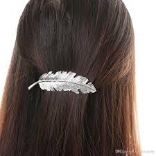 barrette hair 2018 fashion women hairpins metal leaf shape hair clip barrettes