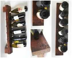 personalized wine rack rustic wood wall wine display 6