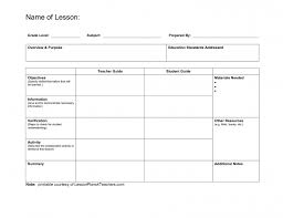 free blank lesson plan templates business template printable