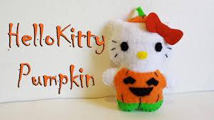 how to make a hello kitty pumpkin plushie tutorial youtube