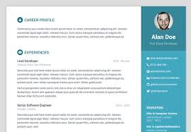 Free Resume Website Templates Resume Template Website 40 Best Cv U0026 Resume Wordpress Themes