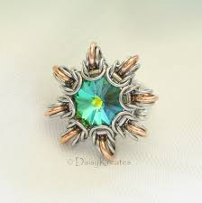 finger ring designs for byzantine sun finger ring with swarovski rivoli in mixed metals