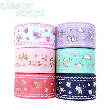 floral ribbon 6 colors mix grosgrain ribbon printed lovely floral series