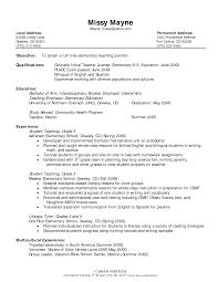 Teaching Resume Samples by Elementary Teacher Resume Samples Resume Format 2017