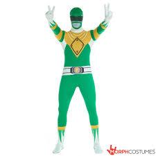 Power Rangers Halloween Costumes Adults Power Rangers Green Ranger Morphsuit Morph Costumes Uk