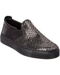 the flexx lights slip on sneakers the flexx lights perforated leather slip on sneakers in black lyst