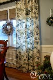 Jacobean Floral Curtains 21 Rosemary Getting The Outour Big Dining Room Reveal