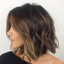lobs thick hair 60 messy bob hairstyles for your trendy casual looks wavy bobs
