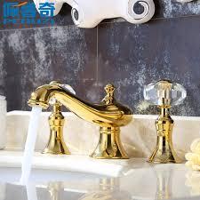European Bathroom Fixtures Peruzzi Bathroom Gold Three Basin Faucet And Cold 8