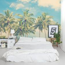 Palm Tree Bedroom Furniture by Vintage Summer Palms Wall Mural