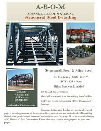 steel detailing advance bill of material